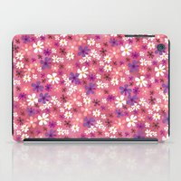 Retro Pink Flowers iPad Case