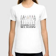 Fashion Is My Religion Womens Fitted Tee White SMALL