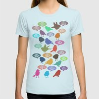 Birdsong Gosh Quotes By … Womens Fitted Tee Light Blue SMALL