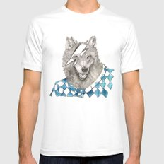 Wolf White Mens Fitted Tee SMALL