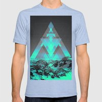 Neither Real Nor Imaginary II Mens Fitted Tee Tri-Blue SMALL