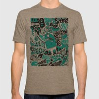 Foe! Mens Fitted Tee Tri-Coffee SMALL