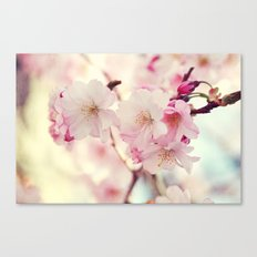 cotton candy flowers Canvas Print