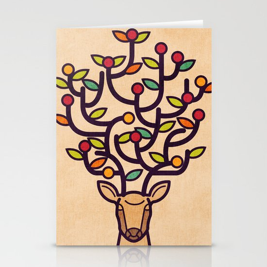 One Happy Deer Stationery Card