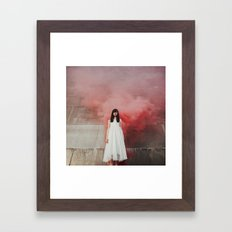 Red smoke Framed Art Print