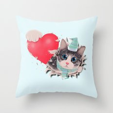 Steal Heart (light) Throw Pillow