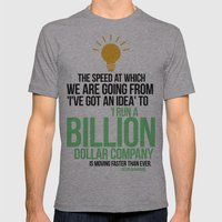 You Can Run A Billion Do… Mens Fitted Tee Athletic Grey SMALL