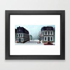 Winter Street Framed Art Print