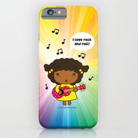iPhone & iPod Case featuring I love Rock N' Roll by Pigtails