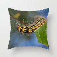 Yellownecked Caterpillar… Throw Pillow