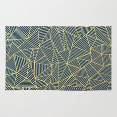 Ab Lines Gold and Navy Rug