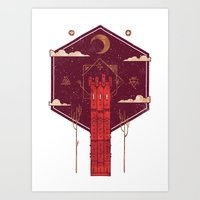 The Crimson Tower Art Print