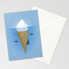 Hidden part of icebergs Stationery Cards