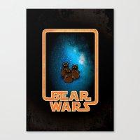 Bear Wars - the Wawas Canvas Print