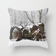 Steel and Snow Throw Pillow
