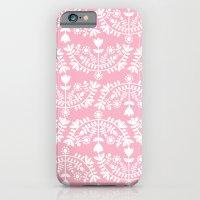 Folk Pattern Pink iPhone 6 Slim Case