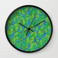 Tropic Orchid Wall Clock