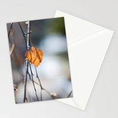 Last Leaf of Winter Stationery Cards