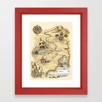 Did You Mean Treasure Island? Framed Art Print