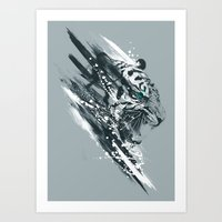 white tigra Art Print