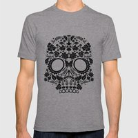 Day Of The Dead Skull No… Mens Fitted Tee Athletic Grey SMALL