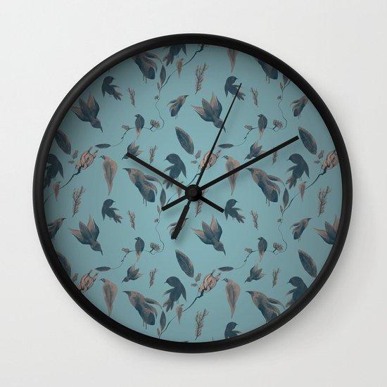 birds pattern Wall Clock