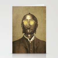 star Stationery Cards featuring Baron Von Three PO  by Terry Fan