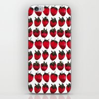 little strawberries iPhone & iPod Skin