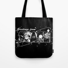 Greetings From Space Tote Bag