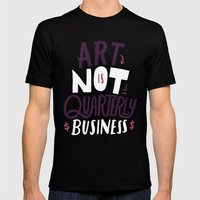 Art Is Not... Mens Fitted Tee Black SMALL