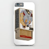 iPhone Cases featuring Burn Shit. by NVM Illustration