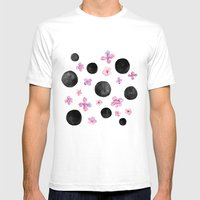 Flora dots Mens Fitted Tee White SMALL