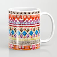 Watercolour Red Aztec Mug