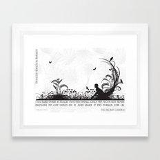 Secret Garden Black and White Illustrated Quote Framed Art Print