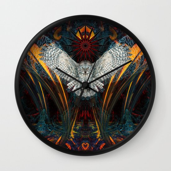 The Great Grey Owl Wall Clock