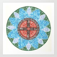 Stained Flower Art Print