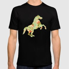 Wild Wonder Mens Fitted Tee Black SMALL