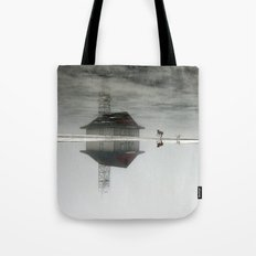 Dogs & Fog Tote Bag