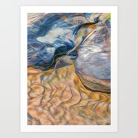 Abstract beautiful rocks on the sand Art Print