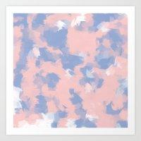 BLOSSOMS - ROSE QUARTZ /… Art Print