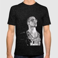 Tyler Durden Mens Fitted Tee Tri-Black SMALL