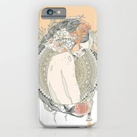 iPhone & iPod Case featuring blackened doily by Cassidy Rae Limbach