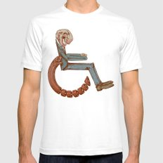 Wheelchair White SMALL Mens Fitted Tee