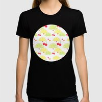 Summer Fruit Cocktail Womens Fitted Tee Black SMALL