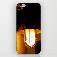 Yellow streetlight iPhone & iPod Skin