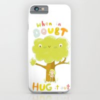 iPhone & iPod Case featuring When in doubt, Hug it out by Lori Joy Smith