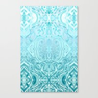 Twists & Turns in Turquoise & Teal Canvas Print