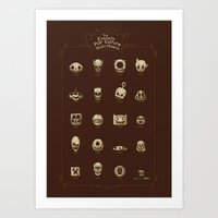 The Exquisite Pop Culture Skulls Museum Art Print