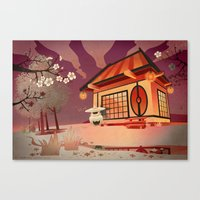 Imaginery Asian landscape Canvas Print