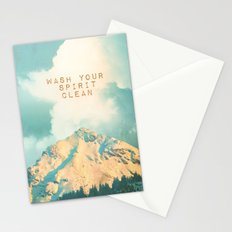 WASH YOUR SPIRIT CLEAN (JOHN MUIR) Stationery Cards